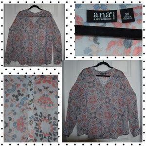 Sheer boho blouse